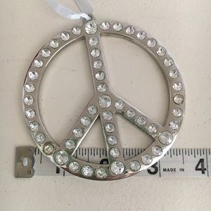 Other - Peace Sign w/ Crystals Ornament - peace sign